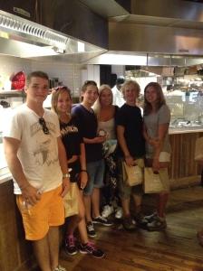 Inne på en italiensk restaurang i Chelsea Market.
