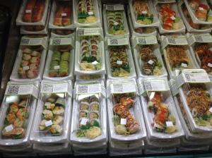 Färdig Sushi på mataffären.