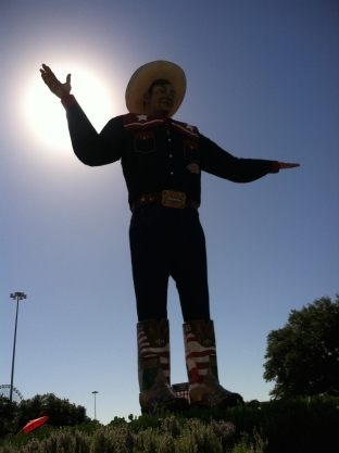 """Big Tex"" en hög staty på Texas State Fair"