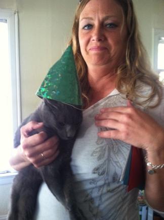 Nina och katten Kroshka
