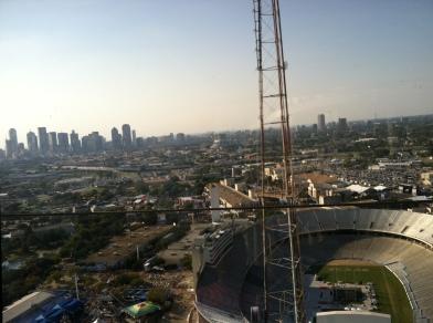 Utsikt från observatoriet. I mitten av Texas State Fair fanns en stor arena.