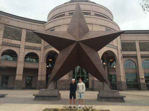 Utanför Texas State History Museum i Austin.