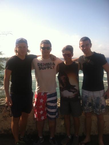 Rumskompisar. Jag, Jakob från Sverige, Aksel från Norge, och Thomas från Tjeckien.