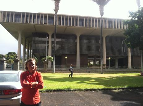 Hawaii State Capitol som ska likna en vulkan